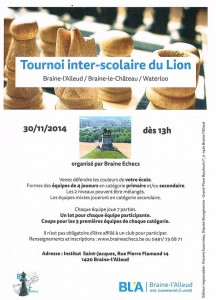 affiche Tournoi Lion